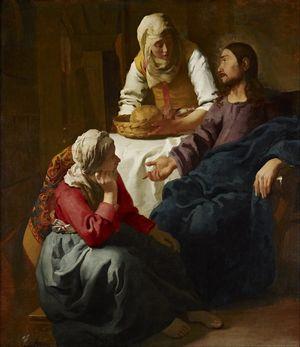マルタとマリアの家のキリスト