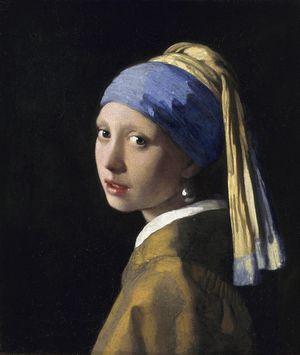 真珠の耳飾りの少女、または青いターバンの少女
