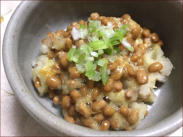 らっこが作った納豆おろしです。