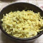 らっこが作った黄色いキャベツ・カレー味です。
