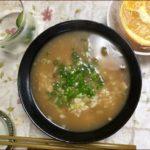 らっこがお味噌汁の残りで作ったねこまんま雑炊です。
