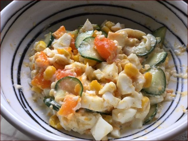 らっこが作った卵サラダです。