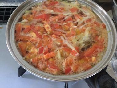 沸騰したスープです。