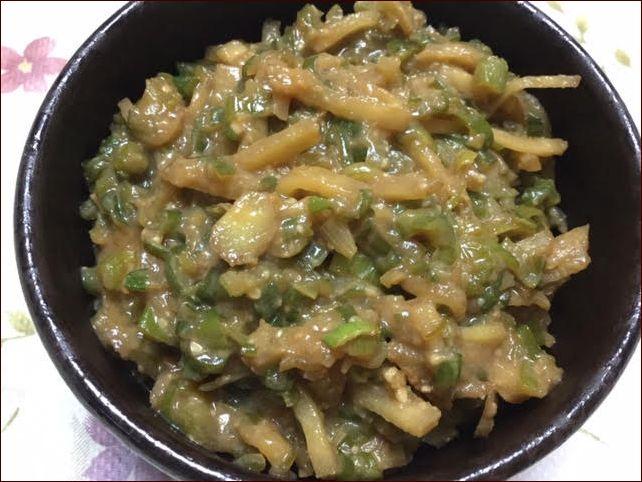 らっこが作った生姜とねぎの味噌焼きです。