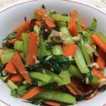 小松菜とツナの塩昆布味です。