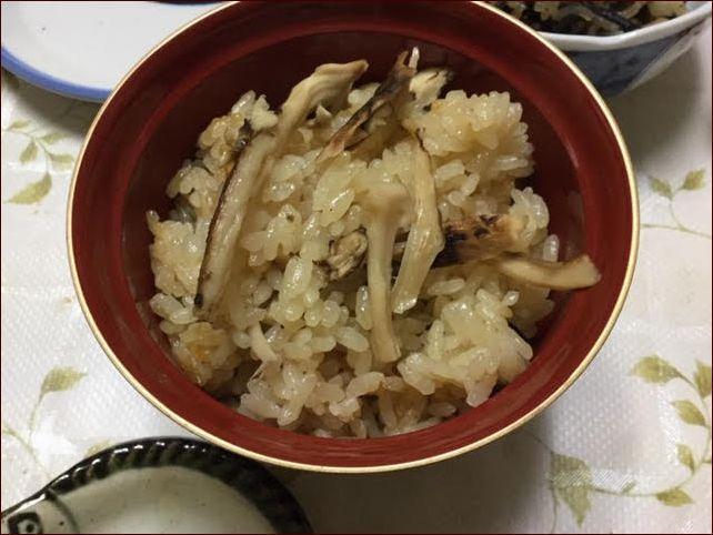 松茸ご飯です。