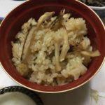 お椀によそった松茸ご飯です。