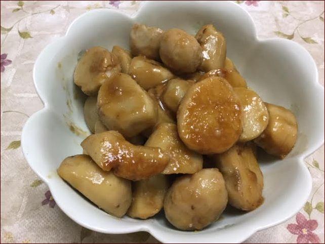 らっこが作った里芋の煮っころがしです。