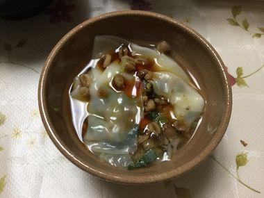 らっこが作った水餃子です。