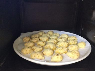 オーブンで焼いたかぼちゃとバナナのクッキーです。