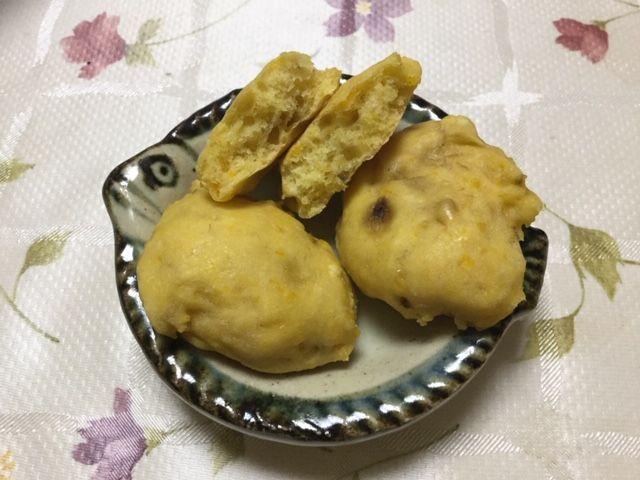 かぼちゃとバナナのクッキーです。