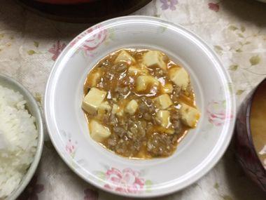 肉ニクしい麻婆豆腐です。