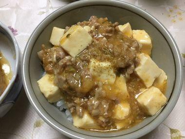 肉ニクしい麻婆豆腐丼です。