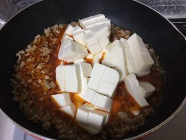豆腐を加えた麻婆豆腐の素です。