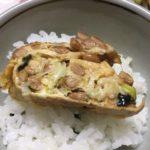 らっこが作った納豆の卵焼きです。
