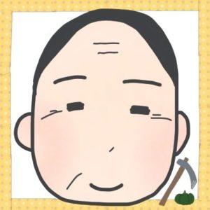 叔父さん(こぎ叔父さん)の顔のイラストです。