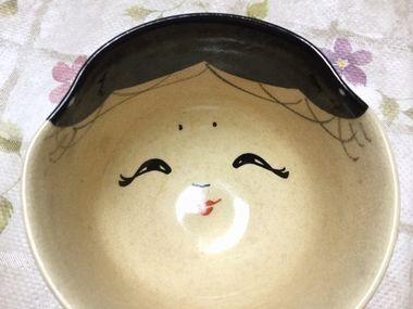 福茶碗の顔です。