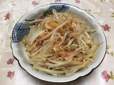 キムチ味のもやし納豆です。