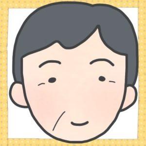 ご近所のSさんの顔のイラストです。