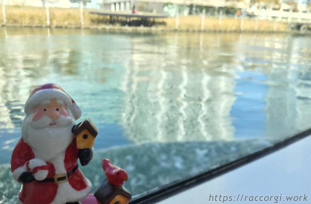 シーバスの船内にいたサンタさんです。