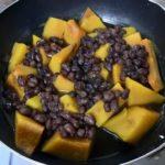 かぼちゃと小豆の煮物です。いとこ煮