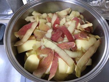 りんご・オン・ザ・リンゴの皮です。