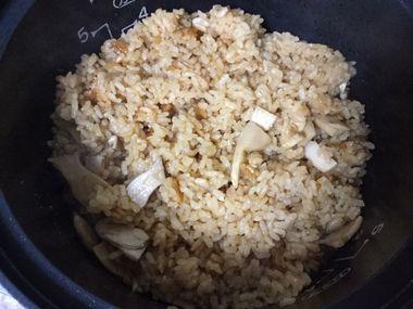 よく混ぜたエリンギご飯です。