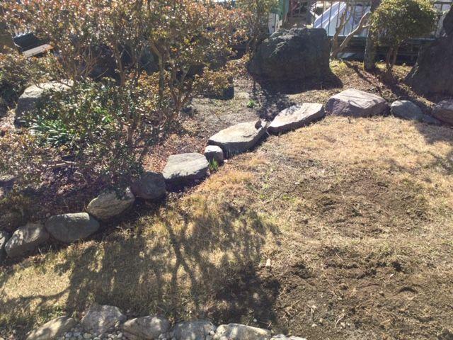 こーぎー家の庭です。