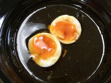 半熟卵です。