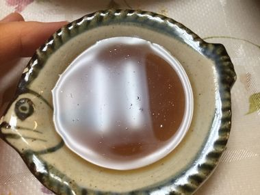 溶けてしまった、赤カレイの煮汁です。