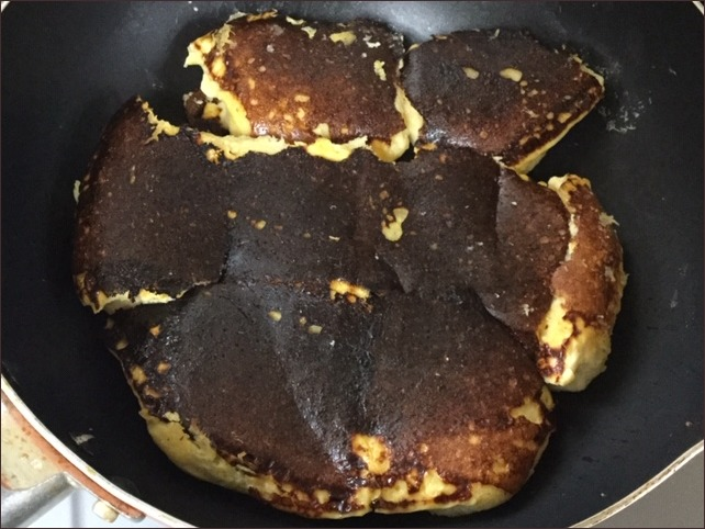 らっこが一晩浸して作ったフレンチトーストのまさかの姿です。