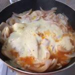 新玉ねぎの上のチーズがよく溶けています。