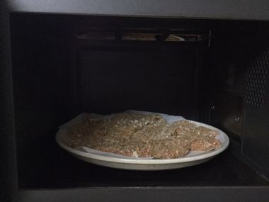 とんかつをオーブンで焼こうとしています。