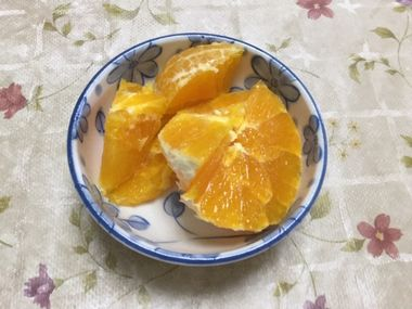 刻んだオレンジです。