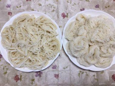 稲庭うどんと稲庭素麺です。