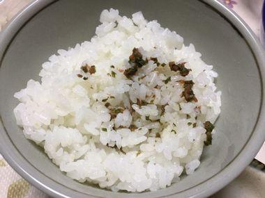 紫蘇梅ご飯です。