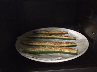 きゅうりをオーブンで焼きました。
