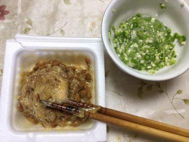 ねばねばオクラと納豆です。