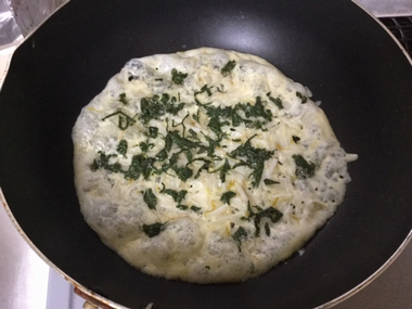 焼けてきたチーズ焼きです。