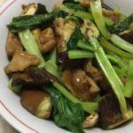 ナスと小松菜と油あげの煮びたしです。