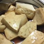 焼き豆腐の煮物です。