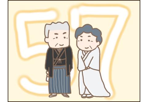こぎ父とこぎ母の結婚記念日。57年