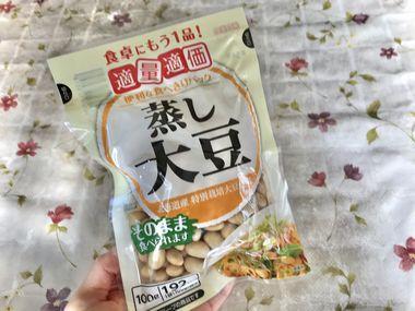 100g入りの蒸し大豆です。